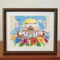 絵画 額付き 絵 壁掛け インテリア アート おしゃれ 誕生日プレゼント 島の彩Mサイズ No.035 / うまんちゅの首里城