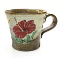 マグカップ 大きい おしゃれ 陶器 沖縄 お土産 土物 白半月 マグカップ