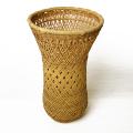 竹かご 篭 竹編み 花器 伝統 工芸品 竹花篭 格子花かご 花瓶 ドライフラワー 和風 竹器 生け花 竹製品 手作り 竹かご花器 大