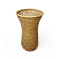 竹かご 篭 竹編み 花器 伝統 工芸品 竹花篭 格子花かご 花瓶 ドライフラワー 和風 竹器 生け花 竹製品 手作り 竹かご花器 小