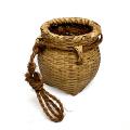 竹ビク 腰ビク 竹 伝統 工芸品 竹かご 籠 魚籠 ビク 小