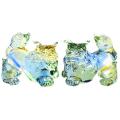 沖縄土産 シーサー 置物 玄関 ペア ガラスシーサー ガラスシーサー 青緑