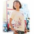 紅型風Tシャツ/サンゴ