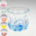 琉球ガラス グラス コップ 誕生日 冷茶グラス プレゼント おしゃれ 沖縄 お土産 ギフト ビールグラス ビアグラス さざ波モール丸グラス