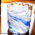 父の日 琉球ガラス「残波ロックグラス小/源河」
