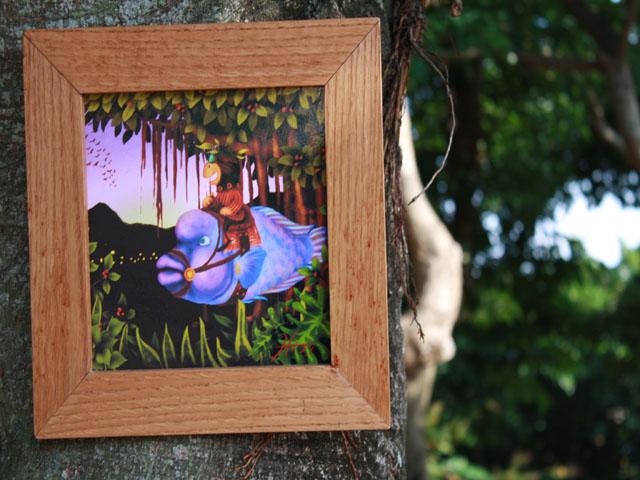 木精キジムナーのアートちび絵「旅の情景/Mサイズ11番」