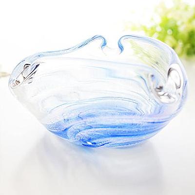 琉球ガラス/渦潮モール三角灰皿