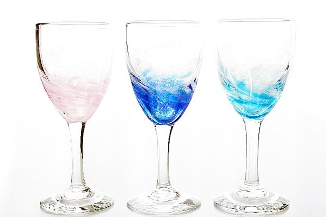 琉球ガラス/海蛍ワイングラス