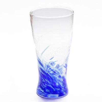 琉球ガラス「海蛍アイスロンググラス」