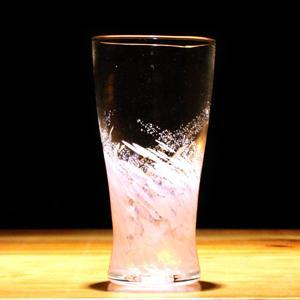 琉球グラス「海蛍アイスロンググラス/ピンク」