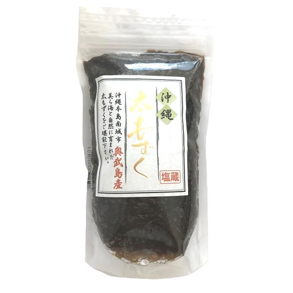 沖縄 お土産 もずく 美ら海 塩蔵 塩もずく 奥武島産 太もずく 420g