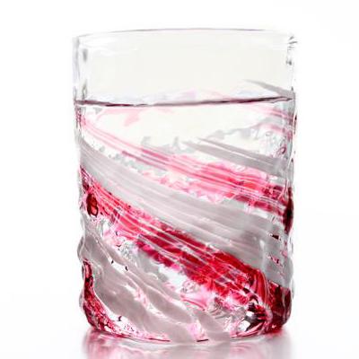琉球ガラス「残波ロックグラス大・源河」
