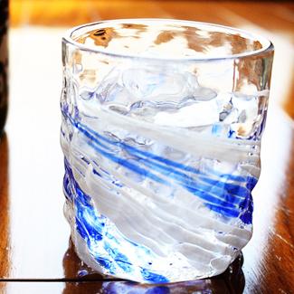 琉球ガラス「残波ロックグラス小/源河」