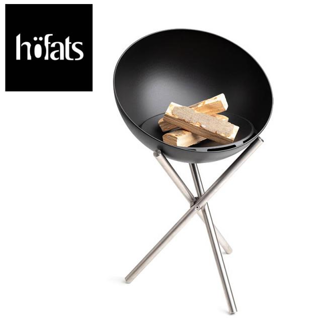 hoefats ホーファッツ BOWL with Tripod 焚火台 半球形 の ファイヤービット グリルとしても BBQ バーベキュー アウトドア キャンプ 焚き火台