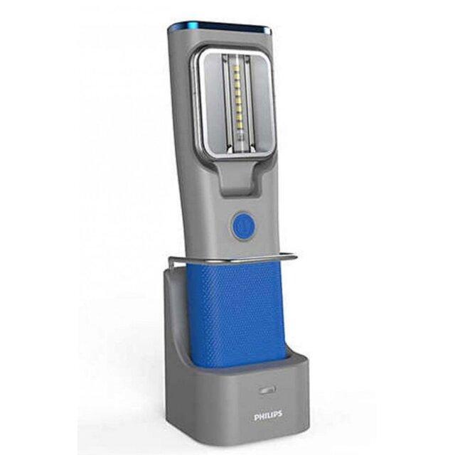 PHILIPS ドッキングステーション付充電式 LED ライト RCH31UV LPL60UVX1 漏洩検知 UV 照射機能付 ワークライト 点検作業 ハンズフリー対応ライト フィリップス