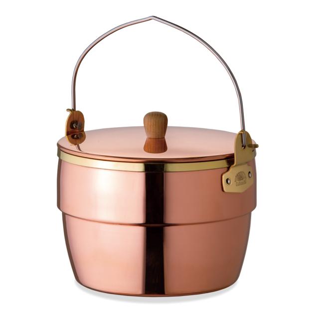 コッパーオークポット 86236 日本製 銅製鍋 アウトドア バーベキューキャンプ 炊飯 煮込み調理 調理 料理 職人 ファイヤーサイド