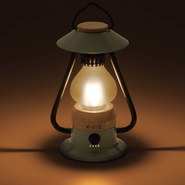 ロゴス logos Bamboo ゆらめき・モダーンランタン 74175018 LED ゆらめきモード クラシック オシャレ 200ルーメン ろうそく バンブー 竹 スマホ 充電