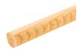 35木製手すり アッシュ丸棒ディンプル付 クリア