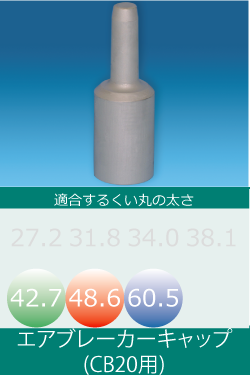 エアブレーカー用キャップ(30φシャンク)