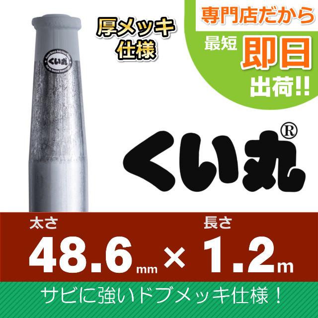 くい丸(48.6×1200L)ドブメッキ仕様