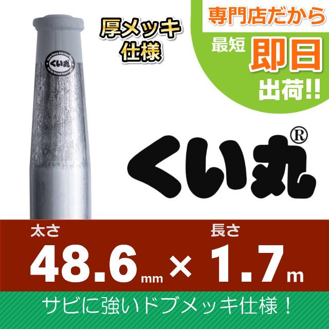 くい丸(48.6×1700L)ドブメッキ仕様