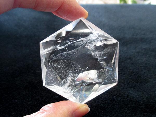 高品質 天然水晶 ヘキサグラム 六芒星 ダビデの星 天然石専門店 販売