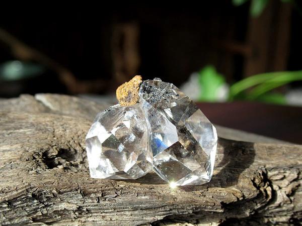 ハーキマーダイヤモンド 水晶 原石 ニューヨーク州産   天然石専門店【鬮石】