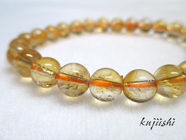 シトリンクォーツ(黄水晶)天然石ブレスレット