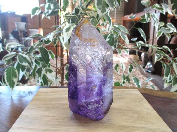 アメジストエレスチャル 高品質 原石 ポリッシュ 紫水晶 天然石専門店販売