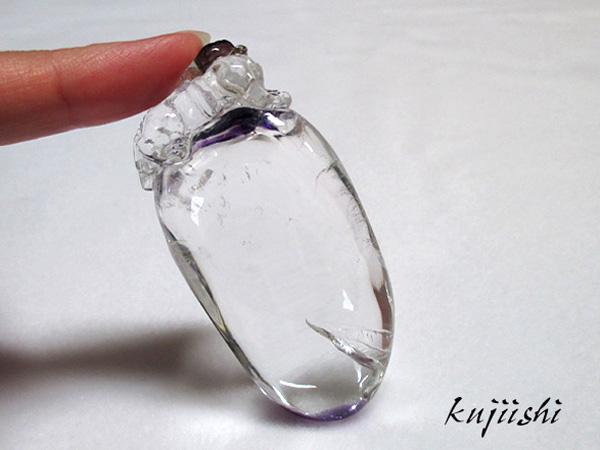 アメジスト(紫水晶)貔貅(ひきゅう)ヒキュウの彫刻