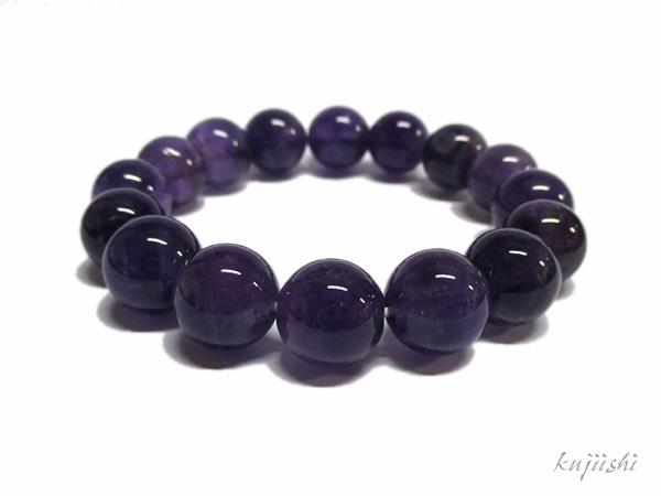 アメジスト ブレスレット 約12mm 紫水晶 天然石専門店/鬮石