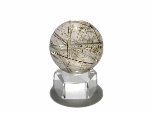 高品質 ルチルクォーツビーズ 水晶 約20mm 天然石販売/鬮石