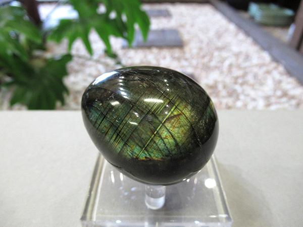 ブラックラブラドライト エッグ 原石磨き 天然石専門店 鬮石