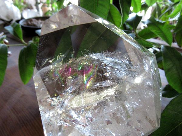 レインボークォーツ 水晶 ポリッシュ ブラジル産