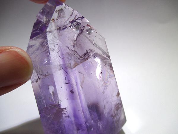 ブラジル産 アメジスト ポイント ポリッシュ 紫水晶 通販 天然石専門店 販売