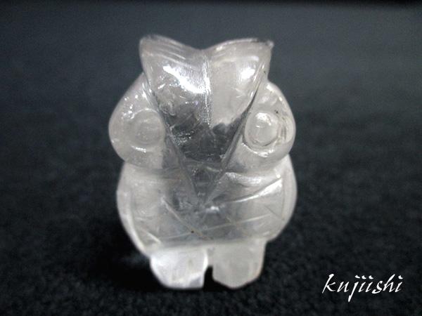 天然水晶の梟(ふくろう)フクロウ彫刻
