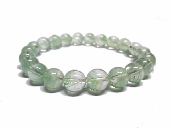 グリーンファントムクォーツ 水晶 ブレスレット 約9mm 天然石専門店 販売/鬮石