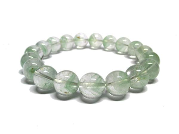 グリーンファントムクォーツ 水晶 ブレスレット 約10mm 天然石専門店 販売/鬮石