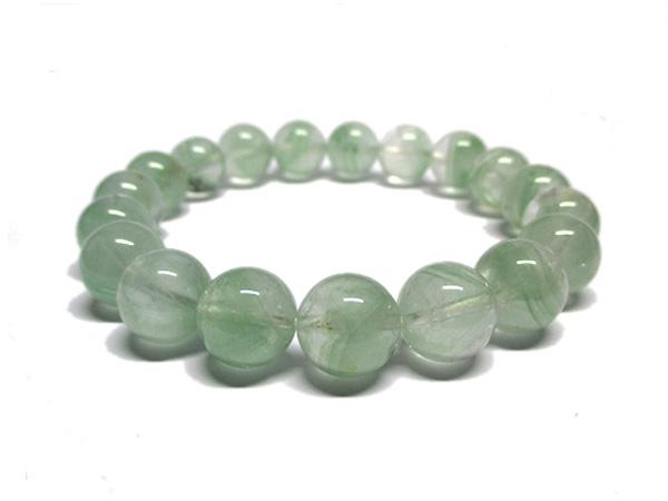 グリーンファントムクォーツ 水晶 ブレスレット 約10~11mm 天然石専門店 販売/鬮石