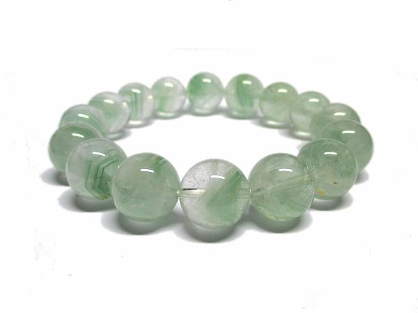 グリーンファントムクォーツ 水晶 ブレスレット 約13mm 天然石専門店 販売/鬮石