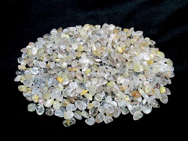 ルチルクォーツ 水晶 さざれ チップ 浄化用 500gパック 天然石専門店【鬮石】