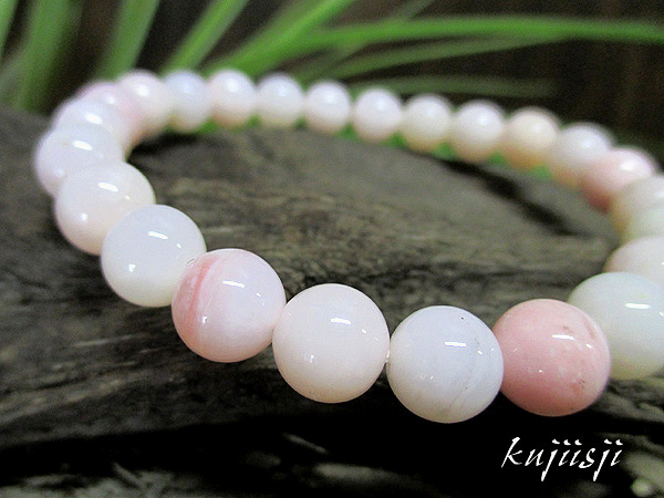 ピンクオパール天然石ブレスレット