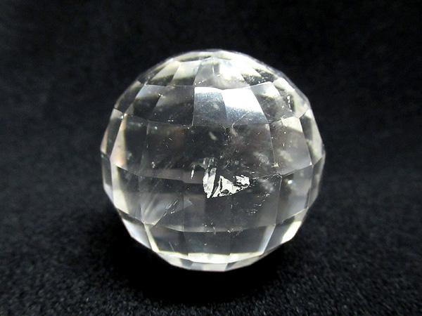 ミラーボールカット水晶 丸玉 | 天然石専門店【鬮石】