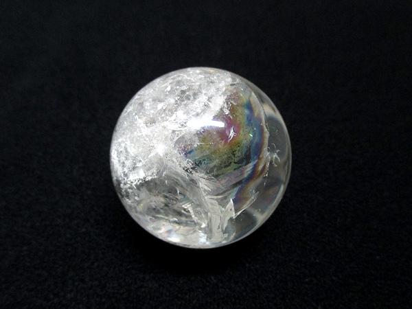 レインボークォーツ 天然水晶 丸玉 天然石専門店 販売