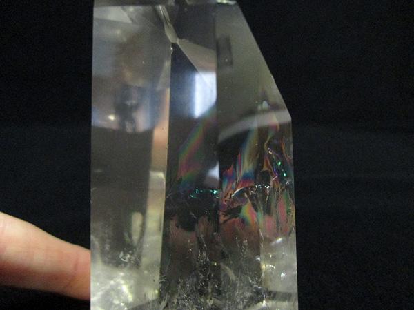 【高品質】 天然水晶 レインボー(虹入り) クリスタル ポイント 天然石専門店【鬮石】