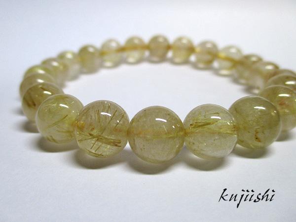 ルチルクォーツ(水晶)天然石ブレスレット
