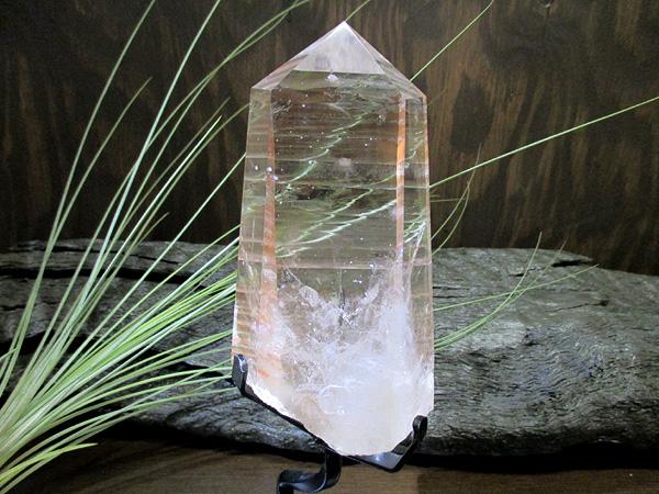 天然水晶 レインボー(虹入り) クォーツ 水晶 ポイント ブラジル ゴイアス州 【最高品質】 鬮石(くじいし) kujiishi