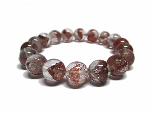 レッドファントムクォーツ 水晶 ブレスレット 約11mm 天然石専門店 販売/鬮石