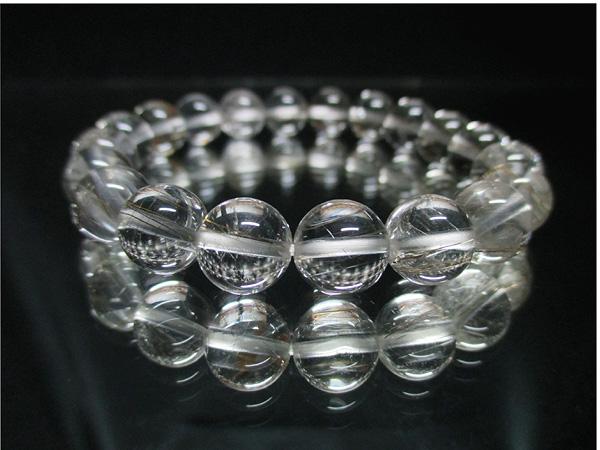 高品質シルバールチルクォーツ(水晶)天然石ブレスレット