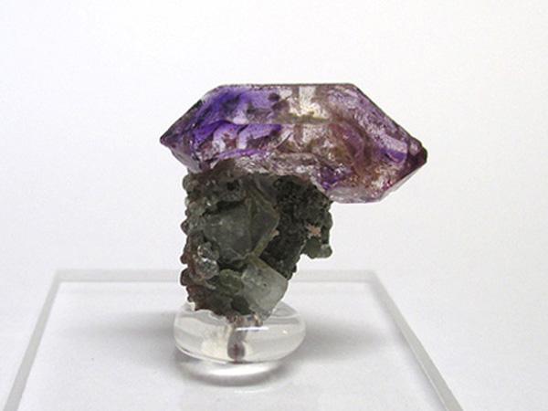 希少!インド産アメジストエレスチャル、セプタークォーツ原石